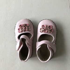 Pink flower Pediped shoes 18 - 24 months